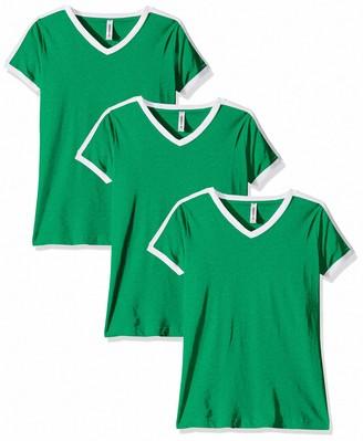 AquaGuard Women's Soccer Ringer Fine Jersey T-Shirt-3 Pack