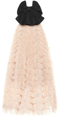 RED Valentino strapless taffeta and tulle gown