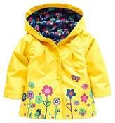 Wennikids Baby Girl Kid Waterproof Floral Hooded Coat Jacket Outwear Raincoat Hoodies Large
