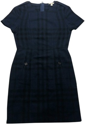 Burberry Navy Wool Dresses