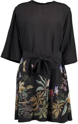 Givenchy Elbow Sleeve Rainbow Print T-Shirt Dress