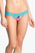 BP. Undercover Lace Waist Low Rise Thong (Juniors) Fiesta Floral X-Large
