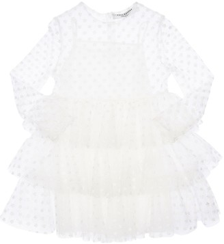 Philosophy di Lorenzo Serafini Embroidered Stretch Tulle Dress