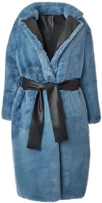 Hilary Macmillan Reversible Faux Leather Coat