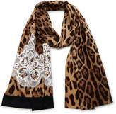 Dolce & Gabbana Leopard-Print Silk Headscarf