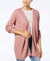 Hippie Rose Juniors' Open-Front Lace-Up-Back Cardigan