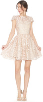 Alice + Olivia Gracia Full Cap Sleeve Dress