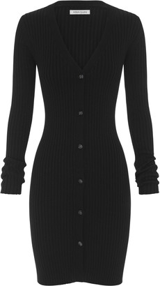 ANNA QUAN Misha Ribbed-Knit Shirt Dress