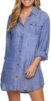 Dotti Travel Muse Chambray Shirt Cover-Up