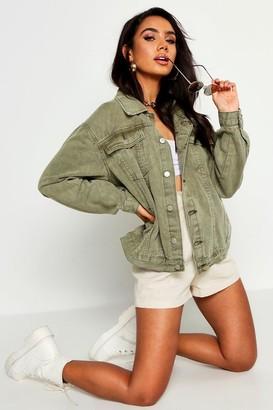 boohoo Super Oversize Rigid Denim Jacket