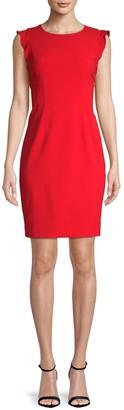 T Tahari Stefana Cap-Sleeve Sheath Dress