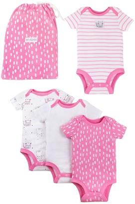 Lamaze Baby Girl 4-Pack Pure Organic Bodysuit