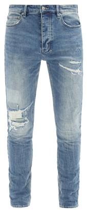 Ksubi Chitch Distressed Slim-leg Jeans - Indigo