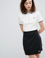 Fred Perry Authentic Tipped Zip Neck Pique Polo Shirt