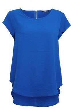 Dorothy Perkins Womens Only Cobalt Blue Short Sleeve Top, Cobalt