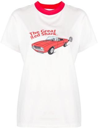 Natasha Zinko The Great Red Shark print T-shirt