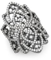 Noir Crystal Pave Ring