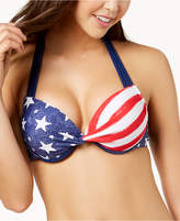 California Waves Juniors' Americana Push-Up Underwire Bikini Top, Created for Macy's
