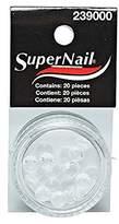 SuperNail Rhinestone, Clear, 20 Count
