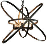 Noir Sassari 4-Light Pendant - Bronze