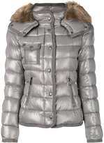 Moncler hooded padded jacket - women - Feather Down/Polyamide/Racoon Fur - 3