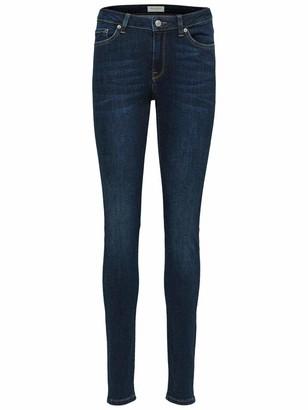 Selected Women's Slfida Mw Dark Blue Noos W Skinny Jeans