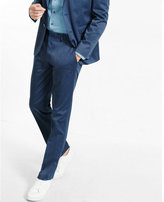 Express slim photographer cotton sateen blue heather suit pant