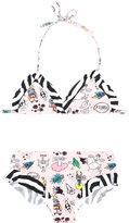 Fendi multi print bikini - kids - Polyamide/Spandex/Elastane - 4 yrs