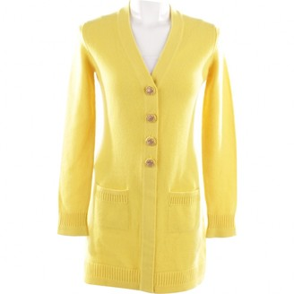Chanel Yellow Cashmere Knitwear