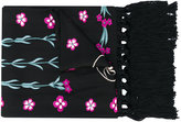 Temperley London foxglove embroidered dinner scarf