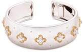 Buccellati Diamond floral 18k white and yellow gold floral cuff