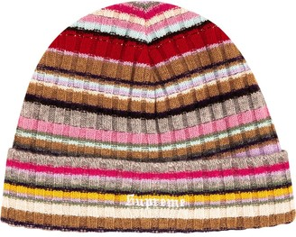 Supreme Striped Knitted Beanie