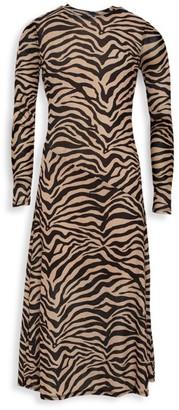 Bardot Junior Girl's Zebra-Print Mesh Shift Dress