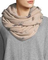 360 Sweater 360Sweater Scarlett Skull-Print Cashmere Infinity Scarf