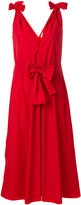 Maison Rabih Kayrouz paper fabric tied shoulder dress
