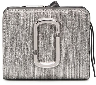 Marc Jacobs The Snapshot Glitter Stripe mini compact wallet