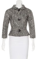 Giambattista Valli Wool Houndstooth Jacket