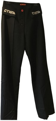 Heron Preston Black Trousers for Women