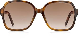 Marc Jacobs 57mm Gradient Square Sunglasses