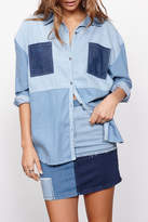 MinkPink Patch Denim Shirt