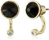 Sam Edelman Ashley Small Floater Black/Gold Earrings