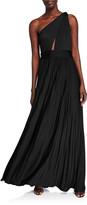 Jill Stuart Cibele Pleated 1-Shoulder Jersey Gown