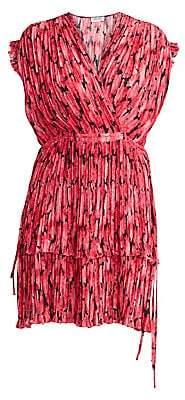 Kenzo Women's Printed Ruffle Flare Dress