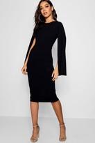 Thumbnail for your product : boohoo Cape Sleeve Bodycon Midi Dress