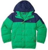 Ralph Lauren Boys' Matte Finish Colorblock Down Puffer Jacket - Sizes S-XL
