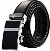K&S KS Men's Modern Leather Belt Slide Automatic Lock Smooth Buckle KB016