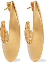 Alighieri - Il Leone 2.0 Gold-plated Hoop Earrings