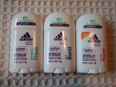 adidas Deodorant for Women Multi Pack of Aluminum Free Fitness Fresh, Pure Powder and Icy Burst Deodorants 1.6 Oz Size