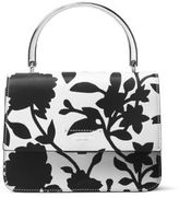 Michael Kors Floral-Print Leather Flap Bag