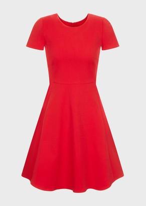 Emporio Armani Flared Dress In Cotton Couture